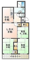 小束山住宅[2階]の間取り