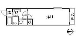 ARASE BLDII[1階]の間取り