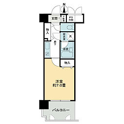 ライオンズマンション四条堀川[7階]の間取り
