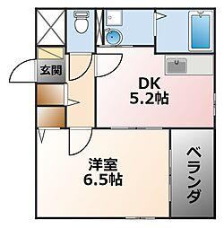 ル・シエール若竹[1階]の間取り