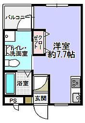 大阪府枚方市宮之阪1丁目の賃貸アパートの間取り