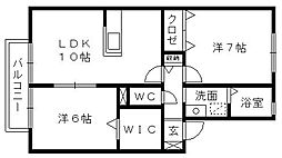 ガーデンスクエアI[1階]の間取り