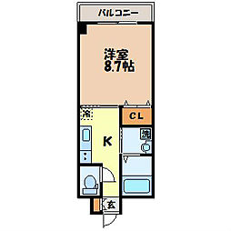 長崎県長崎市大浜町の賃貸マンションの間取り