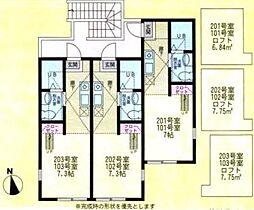 ハーミットクラブハウス戸塚C棟(ハーミットクラブハウストツカC[1階]の間取り