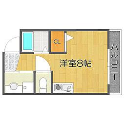 墨江728ハイツ[4階]の間取り