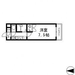 パレイースト小阪[408号室号室]の間取り