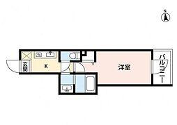 東京メトロ東西線 神楽坂駅 徒歩5分の賃貸マンション 1階1Kの間取り