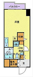 藤和横浜西口ハイタウン 10階ワンルームの間取り