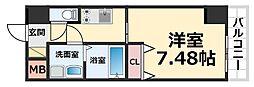 CROUD尼崎 5階1Kの間取り