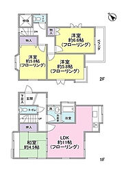 [一戸建] 東京都世田谷区瀬田5丁目 の賃貸【/】の間取り