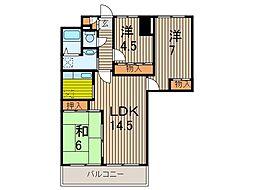 T's garden蕨III[6階]の間取り