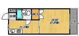 大阪府大東市太子田2丁目の賃貸マンションの間取り