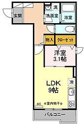 ノアール・エ・ブラン[2階]の間取り