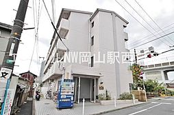 岡山県岡山市北区南方3丁目の賃貸マンションの外観