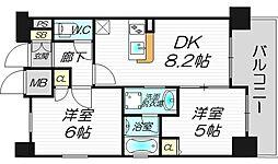 エステムプラザ梅田・中崎町ツインマークス サウスレジデンス[10階]の間取り