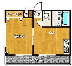 第五東和ビル[401号室号室]の間取り