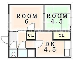 住吉マンション[13号室]の間取り