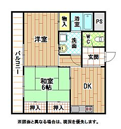 福岡県北九州市門司区清見1丁目の賃貸マンションの間取り