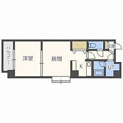 北海道札幌市中央区北五条西22丁目の賃貸マンションの間取り