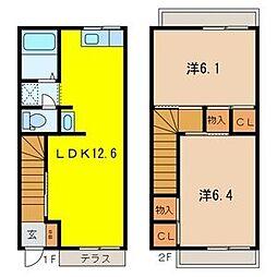 [テラスハウス] 埼玉県さいたま市大宮区堀の内町1丁目 の賃貸【/】の間取り