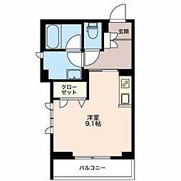 JR大糸線 北松本駅 徒歩31分の賃貸マンション 1階ワンルームの間取り