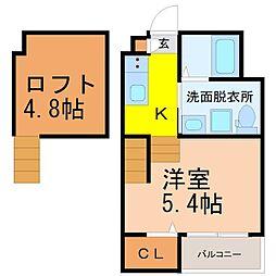仮称)高畑五丁目デザイナーズ[2階]の間取り