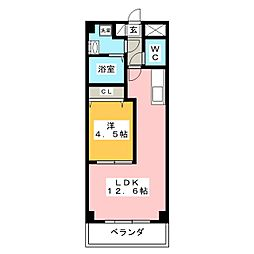 ベルコリーヌ葵[4階]の間取り