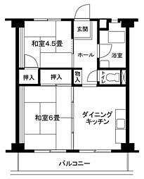 大和東共同ビル[4階]の間取り