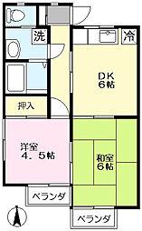 コーポ伊賀谷[105号室]の間取り