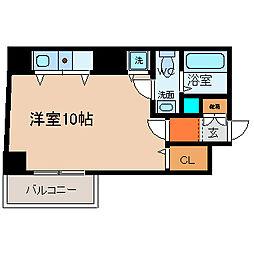 愛知県名古屋市中区大須1の賃貸マンションの間取り