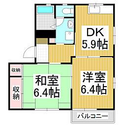 ディアス 五反田[2階]の間取り
