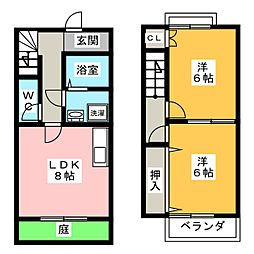 [テラスハウス] 愛知県岡崎市竜美南2丁目 の賃貸【/】の間取り