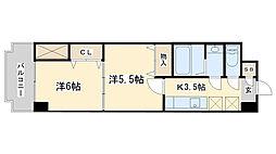 中津口センタービル[6階]の間取り