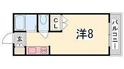 ジュネス船橋[702号室]の間取り