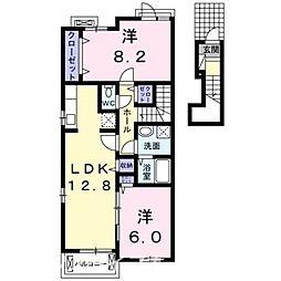 プチメゾンff II[2階]の間取り