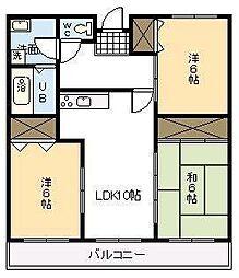 東大宮マンション[203号室]の間取り