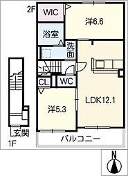 マニフィーク II[2階]の間取り