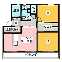 Kitahaus(キタハウス)[3階]の間取り
