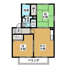 セジュールラフィネ[1階]の間取り