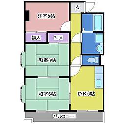 タケダハイツ[2階]の間取り