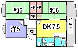 ハイネス井口[3階]の間取り