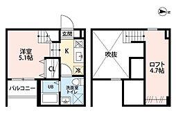 コンソラージュ岩戸(コンソラージュイワト)[2階]の間取り