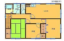 村川借家[201号室]の間取り