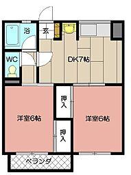 第一白石ビル(八幡東区)[106号室]の間取り