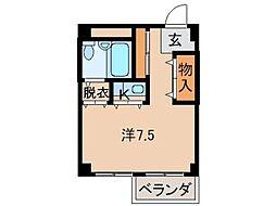 親愛住宅No.5[3階]の間取り