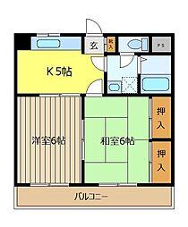 メゾン中村[3階]の間取り