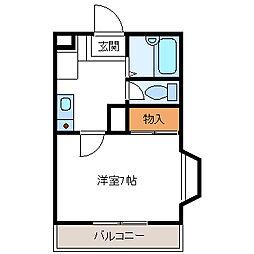 埼玉県久喜市西大輪4丁目の賃貸アパートの間取り