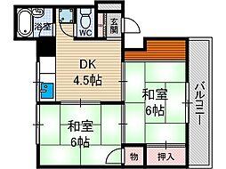 第一東雲マンション[1階]の間取り