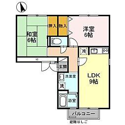 ボナール梅美台 I号館[3階]の間取り