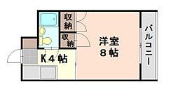 広島県広島市西区大芝3丁目の賃貸マンションの間取り